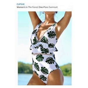 CUPSHE Green In The Forest One Piece Swimsuit